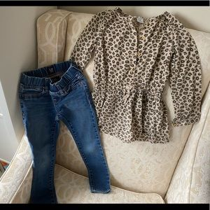 Set of Carter's size 5 shirt and Gap size 5 jeans